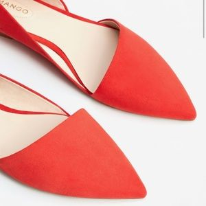 Mango pointed flats